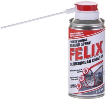 Смазка силиконовая спрэй 210гр FELIX